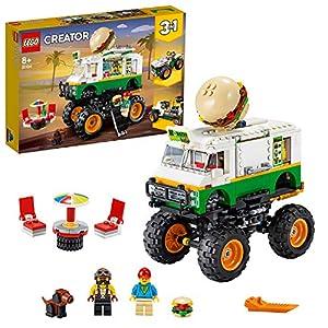 LEGO Creator3in1 MonsterTruckdegliHamburger Fuoristrada Trattore, Set di Costruzioni,Collezione Veicoli, 31104 5702016616309 LEGO