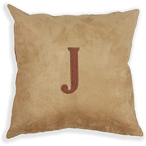 Proven Initial Embroidered Camel Decorative Pillow case/Copricuscini e federe 18 x 18 inch
