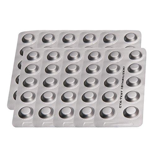 PoolLAB Testtabletten CyA - Test / Stabilizer - Cyanursäure Nachfüllpackung für elektronischen Poolwassertester-100
