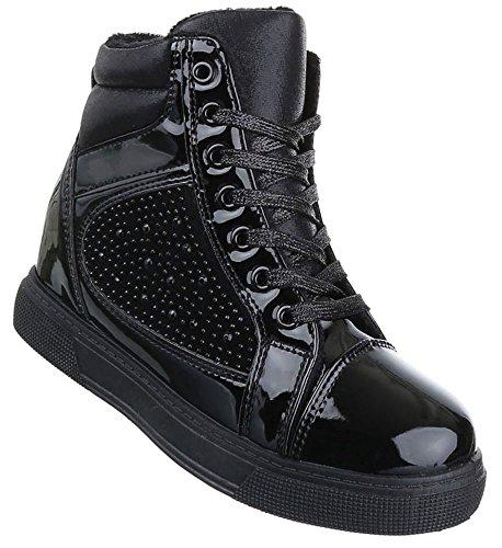 Senhoras Botas Sapatos Cunha Cunhas Schnur Stiefeletten Preto Castanho 36 37 38 39 40 41