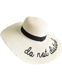 Cappello Da Sole Da Donna Cappello Da Spiaggia In Paglia Ampio Bordo Panama  Sombrero Per Le f6ceb453df6e