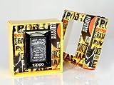 Zippo, Accendino, confezione regalo Premium, edizione speciale Jack Daniel's, Argento (Edelstahloptik)