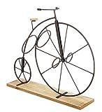 Botellero diseño y original - Bicicleta Gran Velocípedo sobre soporte en madera - Color MARRON