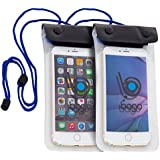 Bago 2 Waterproof CellPhone Dry Bag Case. Pouch Fits Iphone 6, Plus 5S Samsung Galaxy S & Note HTC LG