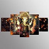 PIO GFRWallart Moderne Giclee Leinwand Drucke Kunstwerk Leinwand Indische Buddha Poster HD Drucken Dekorative Wandmalerei (5 Blätter / Set) , Without Borders , SizeB