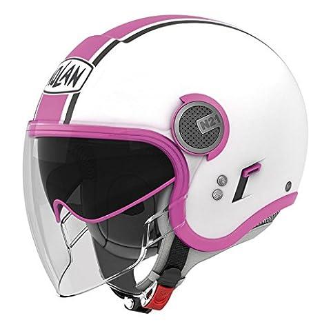 Nolan N21-Visor Duetto Jethelm, Farbe weiss-pink, Größe XS (53/54)