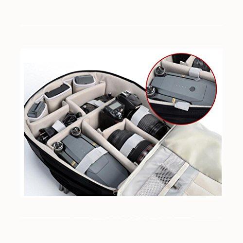 Zaini fotocamera SLR / professionale digitale Zaino UAV Con porta USB di ricarica , Black Black