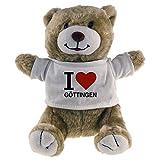 Multifanshop Kuscheltier Bär Classic I Love Göttingen beige - Stofftier Püschtier Schmusetier