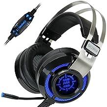 Cascos Gaming  SCORIA por ENHANCE  Headset USB | Auriculares Gaming Surround Sound 7.1 Con Vibración y Microfono Extraible