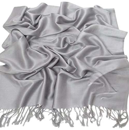 silver-grey-solid-colour-design-shawl-pashmina-scarf-wrap-stole-cj-apparel-new