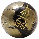 Harmonize los símbolos grabados del Reiki Balancear la Pirita Piedra Esfera Ball Reiki Piedra Sanadora