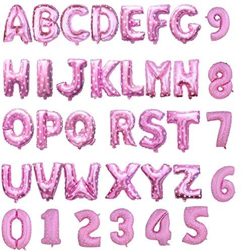 Globos en forma de letras y números, para bodas, etc., color oro y plata, Rosa, Letter A