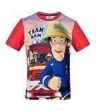 Feuerwehrmann Sam Jungen T-Shirt (Rot, 104)