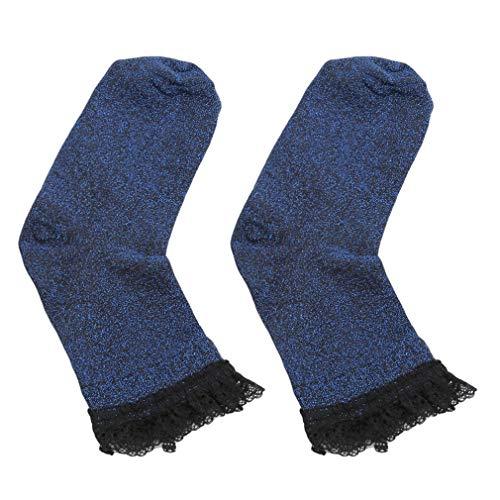 Seide Haufen (LnLyin helle Seide Socken weibliche Ultra-dünne Spitze Socken Knöchel weiche Mode Frauen Haufen Socken, blau)