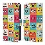 Head Case Designs Offizielle Emoji® Blöcke Die Gelben Und Poos Brieftasche Handyhülle aus Leder für iPhone 5c