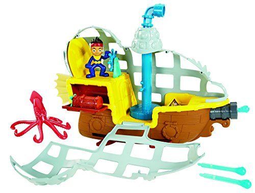 Mattel Fisher-Price BDJ02 - Jake und Nimmerland Piraten U-Boot Bucky -