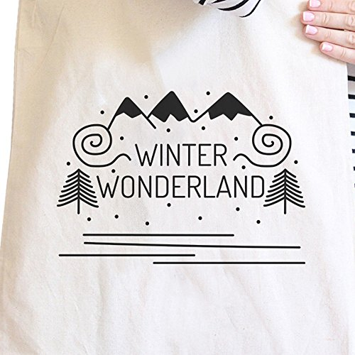 365 Printing inc , Borsa da spiaggia  Donna Merry Corgmas Corgi - Black Misura unica Winter Wonderland - Natural