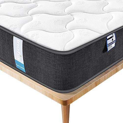 Inofia Double Mattress 4FT6 Mattress 3D Breathable Fabric Mattress with Pocket Springs / 7-Zone Support System/ 8.7 Inch Depth (100 Night Test at NO Risk)-Double-4FT6(135 x 190 x 22cm)