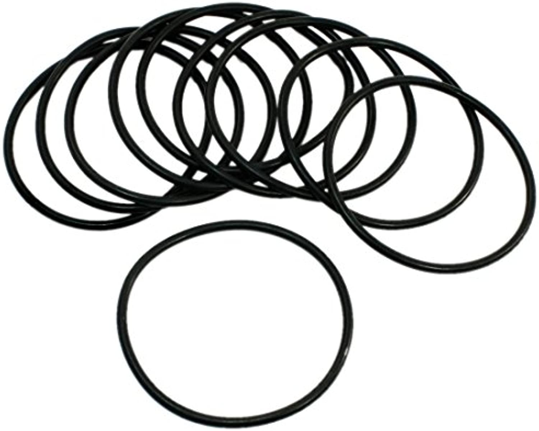 10 piezas de 60 mm Diámetro externo 2.4mm Corte transversal de sellado de goma Anillos O Negro