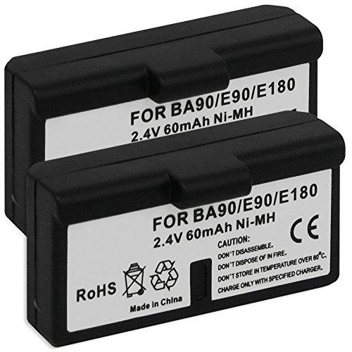 2x Akkus BA-90 für Sennheiser Audioport A1, E90, E180 (Set 180), HDE 1030 / HDI 91, 92... / RI 200, RI 300... - s. Liste