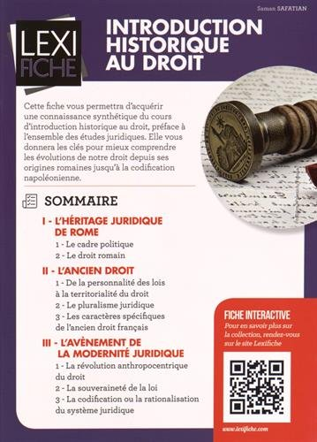 Introduction historique au droit par Saman Safatian