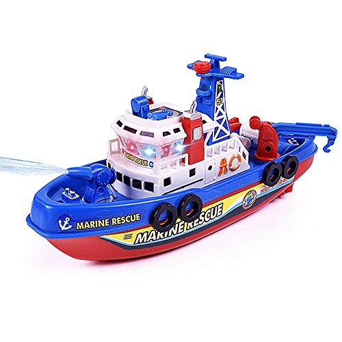 Himki Badewannenspielzeug Marine Rettungsboot Kinder Elektrische Feuerboot Spielzeug mit Musik und Licht
