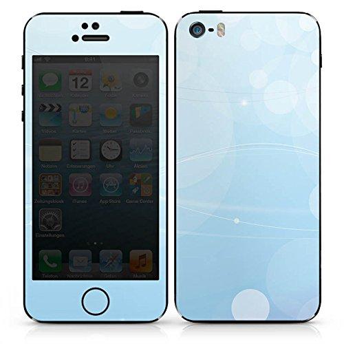 Apple iPhone 4s Case Skin Sticker aus Vinyl-Folie Aufkleber Licht Muster Blau DesignSkins® glänzend