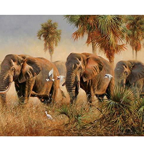 Puzzle 3D Puzzle 1000 Piezas Juguetes Para Niños Animales Salvajes Elefantes Diy...