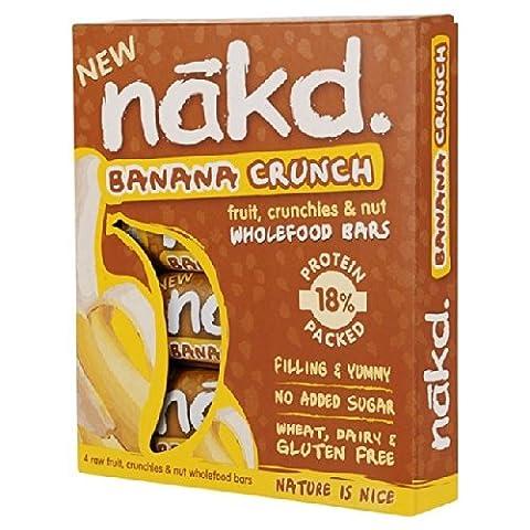 Nakd Free From Banana Crunch Fruit & Nut Bar Multipack 4 x 30g