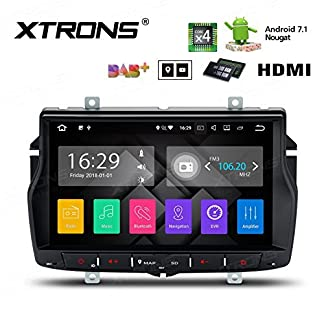 XTRONS-8-Android-Autoradio-mit-Touchscreen-Android-71-Quad-Core-Multimedia-Player-HDMI-Port-WiFi-4G-Bluetooth50-2GB-RAM-16GB-ROM-DAB-OBD2-Lenkradsteuerung-TPMS-FR-Lada-Vesta-2015-2018