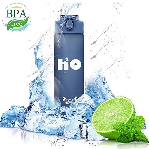 M&B Trinkflasche H2O |100{619492574fbba4c0a44a57c8f4b6214c781ee7376c970f4730e42754487d2749} BPA Frei | 850 ml Wasserflasche | super hohe Qualität Wasserflasche für : Sport ; Outdoor ; Schule ; Fahrrad ; Camping