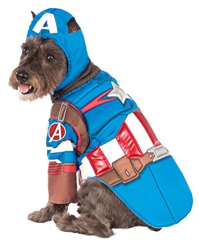 Rubies Costume Avengers Assemble Deluxe Captain America Pet Kostüm, X-Large