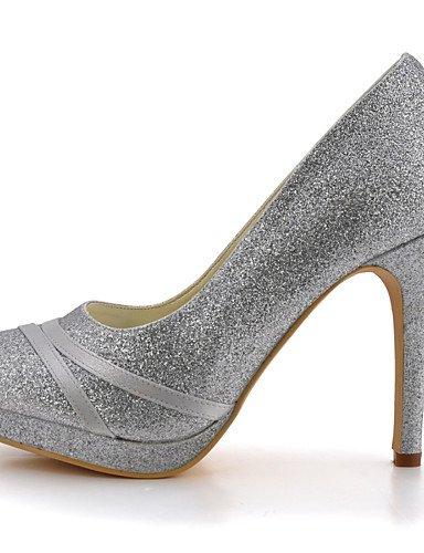 WSS 2016 Chaussures de mariage-Noir / Bleu / Jaune / Rose / Violet / Rouge / Blanc / Argent / Or / Beige / Amande-Mariage / Habillé / Soirée & 4in-4 3/4in-purple