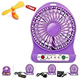 #6: a2zmobi Mini Portable Usb Rechargeable 3 Speed mode Fan with free OTG Fan For Android/Iphone Colors May Vary