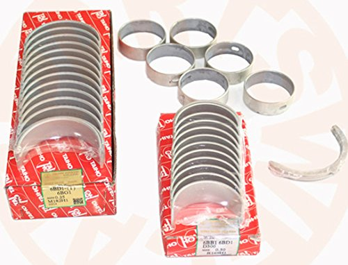 Gowe Motor Lagersatz für Isuzu 6bd1t 6bd1Motor Kugellager Set Kurbel/Con/CAM/Druckscheibe Gabelstapler und Bagger -
