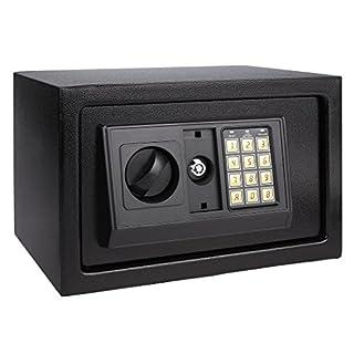 ANCHEER Electronic Digital Safe Box Hidden Wall/Floor Anchoring Design Home Office Safe Box, Double Deadbolt Lock,Black shipping from DE (AN-SB003)