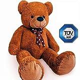Europhant Teddy Bär XL 100 cm in Braun - Plüsch Kuscheltier Stofftier Plüschbär - Tüv Süd geprüft