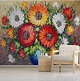 3D Wallpaper Foto Murali Fiori di campo 3D Tv Divano Sfondo Muro Soggiorno Camera Da Letto Pareti Della Carta Da Parati 300 cm (B) * 210 cm (H) 6 Streifen