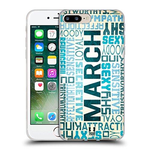 Head Case Designs März Geburtsmonat Persönlichkeit Soft Gel Hülle für Apple iPhone 7 Plus / 8 Plus (Mar-finish)