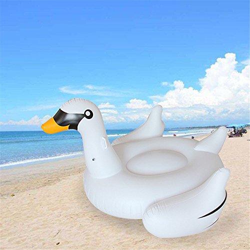 fblasbarer Einhorn/Große Flamingo/ Klein Flamingo/Schwan/ Schwimmliege Pool Wasserliege Luftmatratze Badeinsel Aufblasbar Sessel Lounge (Klein Schwan) ()
