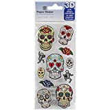 Papel House Productions azúcar calaveras 3d Puffy Pegatinas,