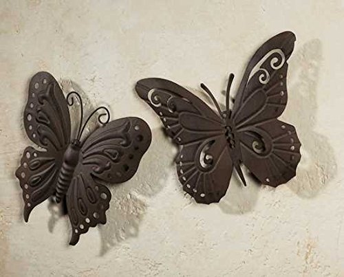Metall Deko Schmetterling 3er Set Wanddeko Wandhänger