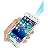 DAEON™ Tragbare Video Projektor für iPhone 7 6 7s 6s plus 100 ANSI Lumens, LED 854 x 480, HDMI, Eingebaute Batterie – Projektor für Film TV Foto teilen und Videospiele