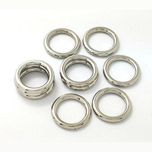 Homyl 10er Set Split Ringe Schlüsselanhänger Ringe Metall Schlüsselringe Metallringe für Auto Haus Schlüssel Handwerk Tasche Zubehör - Silber 5, wie beschrieben - 5 Split-ring 8