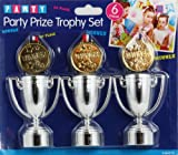 Silver Party Trophy & Gold Medal Set Novelty Games Parties Kids Children by ITP