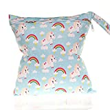 NaiCasy NaiCasy wasserdichte einzelne Schicht Windel-Tasche Windeltasche Speicher für Neugeborene Kinderwagen (Regenbogen-Pferd) 1shta, Mutter und Kind Produkte auf Einer täglichen Basis