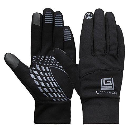 Magic Zone Herren wasserdichte Thermo Handschuhe Winter Touchscreen Handschuhe Winddichte Motorradhandschuhe für Radfahren Reiten Laufen Skifahren & Outdoor Sport (Herren-magic-handschuhe)