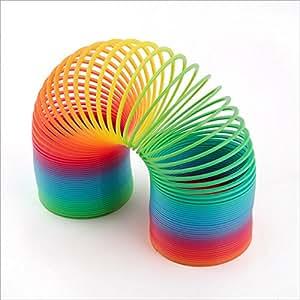 ressort spiral jeu jouet arc en ciel ressort magique15 cm jeux et jouets. Black Bedroom Furniture Sets. Home Design Ideas