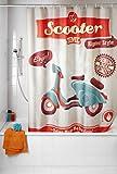 Die besten Duschvorhang Homes Vorhänge - WENKO 21586100 Anti-Schimmel Duschvorhang Vintage Scooter - waschbar Bewertungen