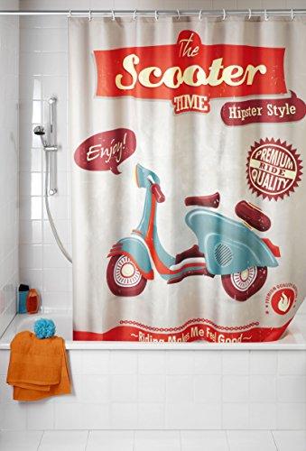 Duschvorhang Vintage Anti-Schimmel Scooter